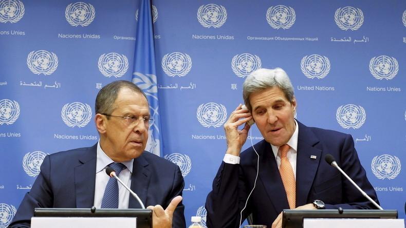 Lawrow: Russland hat den USA konkreten Friedensplan zu Syrien vorgelegt, wir warten noch auf Antwort