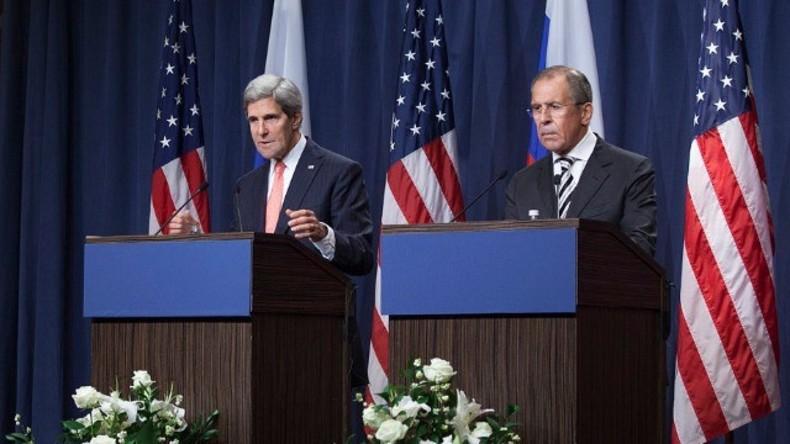 Live: Lawrow, Kerry und der UN-Sonderbeauftragte für Syrien geben gemeinsame Pressekonferenz
