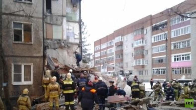 Russland: Gasexplosion in Jaroslawl reißt fünf Stockwerke nieder und fordert sieben Todesopfer