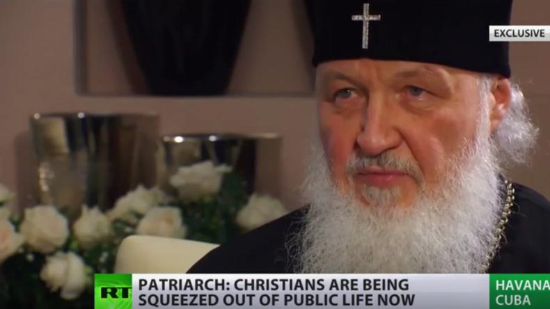 Patriarch Kirill: Weltgemeinschaft muss gemeinsam gegen Terror vorgehen, um Frieden zu schaffen