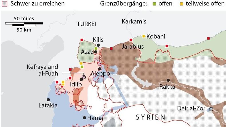 Grafik des Tages: Belagerte Städte in Syrien