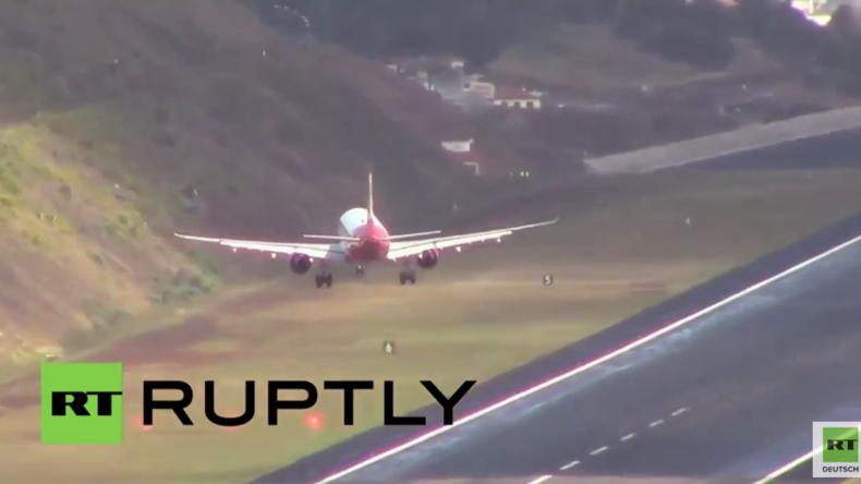 Madeira: Pilot beweist Fähigkeiten bei starkem Wind auf einer der schwierigsten Landebahnen der Welt