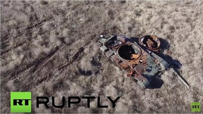 RT-Drohnenaufnahme aus der Ostukraine:  'Kessel von Debalzewo' - Ein Jahr nach der Schlacht