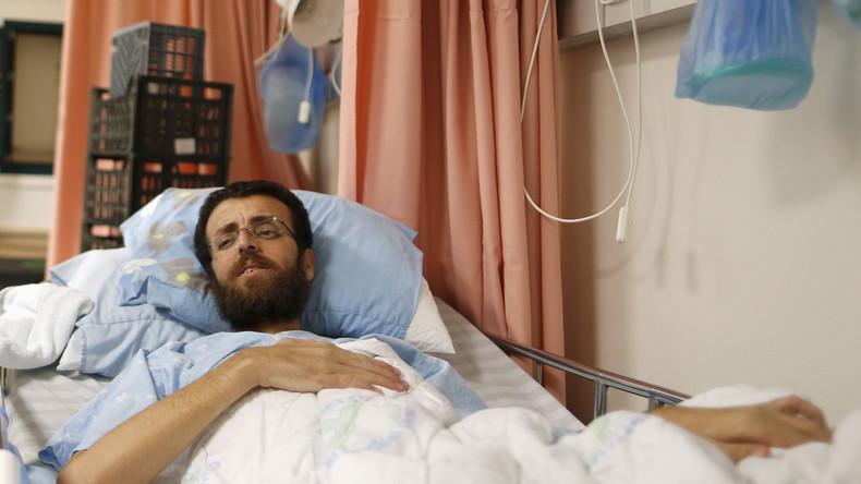 Drastische Aufnahmen: Palästinensischer Journalist im 90. Tag seines Hungerstreiks