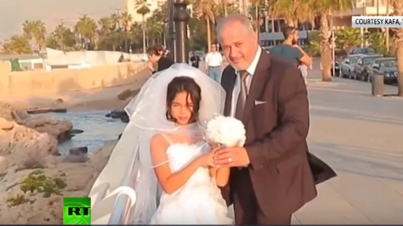 Kreativer Protest gegen Kinderheirat im Libanon