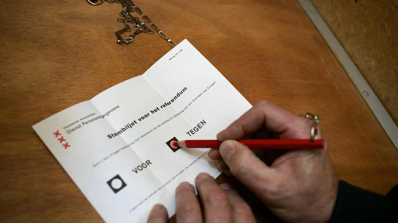Leak: Wie niederländische Regierung und Soros das Ukraine-Referendum beeinflussen