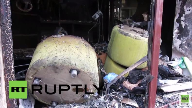 Ukraine: Zweigstelle russischer Sberbank in Lemberg mit Molotowcocktails in Brand gesetzt