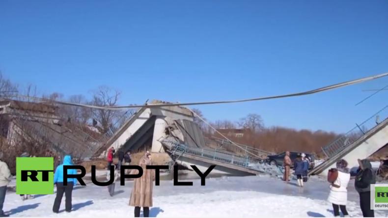Russland: Glück gehabt – Keine Verletzten nach Brücken-Zusammensturz