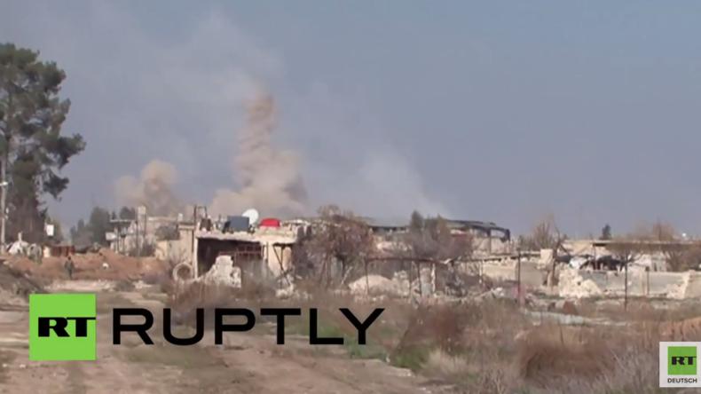 Syrien: Schwere Kämpfe vor Damaskus - Syrische Arabische Armee erzielt weitere Gewinne
