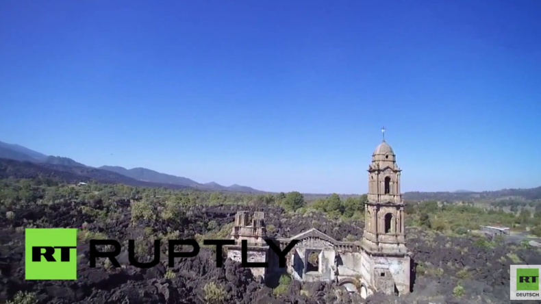 Mexiko: Ganzes Dorf nach Vulkanausbruch verschlungen, nur diese Kathedrale nicht