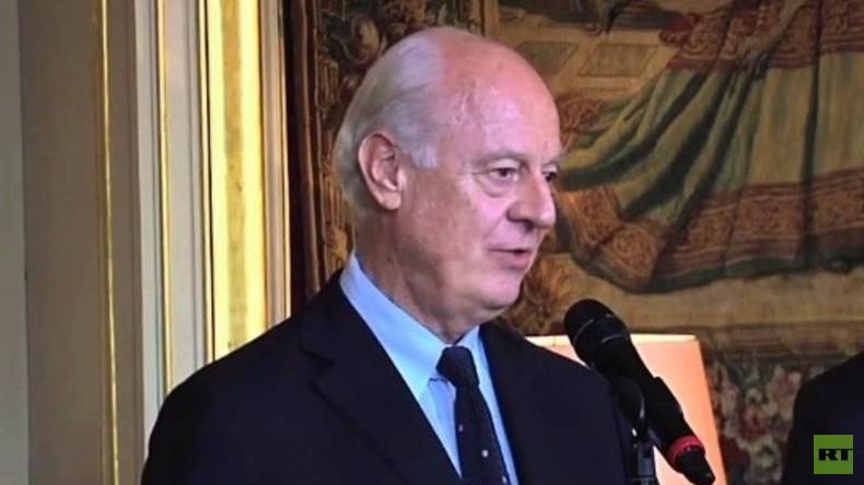 Live: De Mistura zu humanitärem Zugang in Syrien nach Treffen in Genf - Pressekonferenz