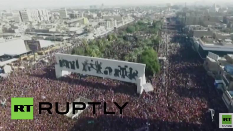 Irak: Hunderttausende protestieren in Bagdad gegen Korruption der Regierung