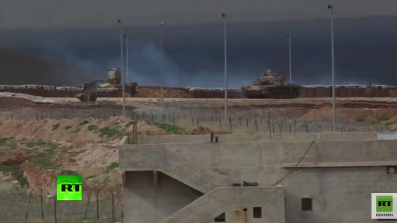 Türkische Panzer & Artillerie konzentrieren sich an Grenze zu Syrien in der Nähe von Kobane