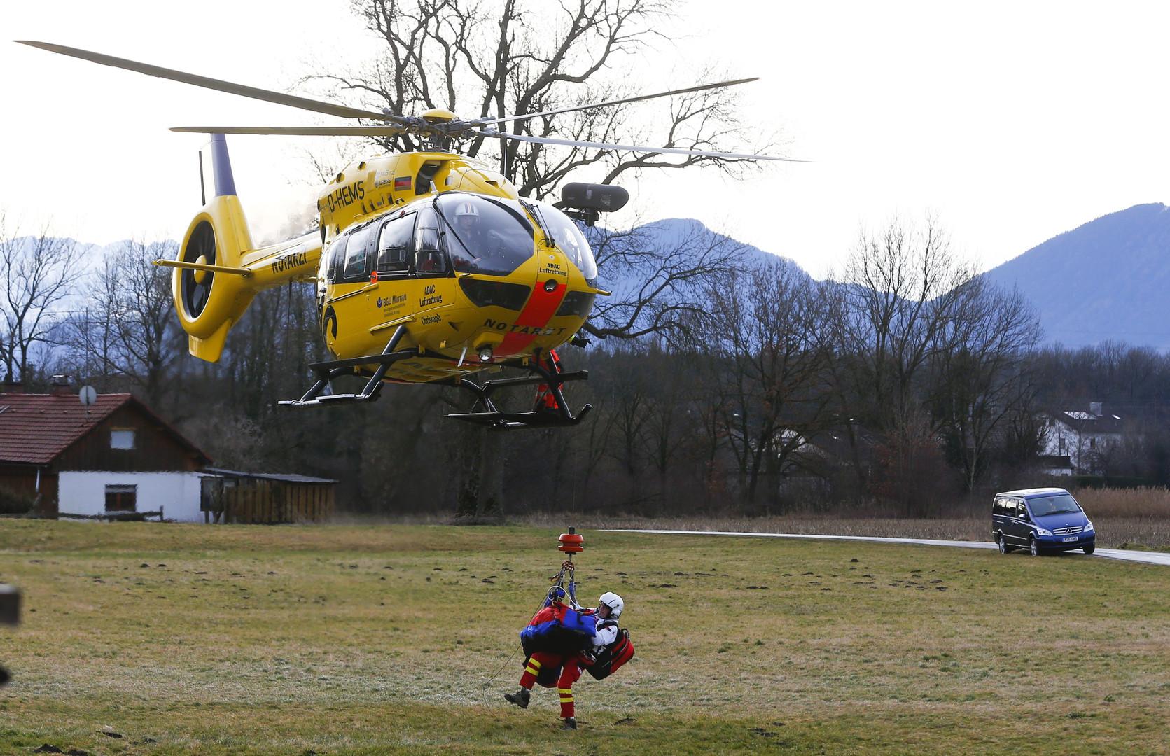 Auch Rettungshubschrauber sind im Einsatz