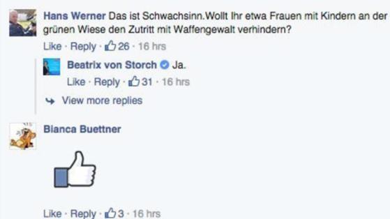Screenshot: Beatrix von Storch (Facebook-Seite)