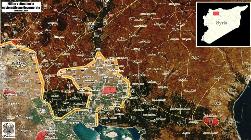 RT Deutsch Analyse und Grafik des Tages: Entscheidungsschlacht um Aleppo