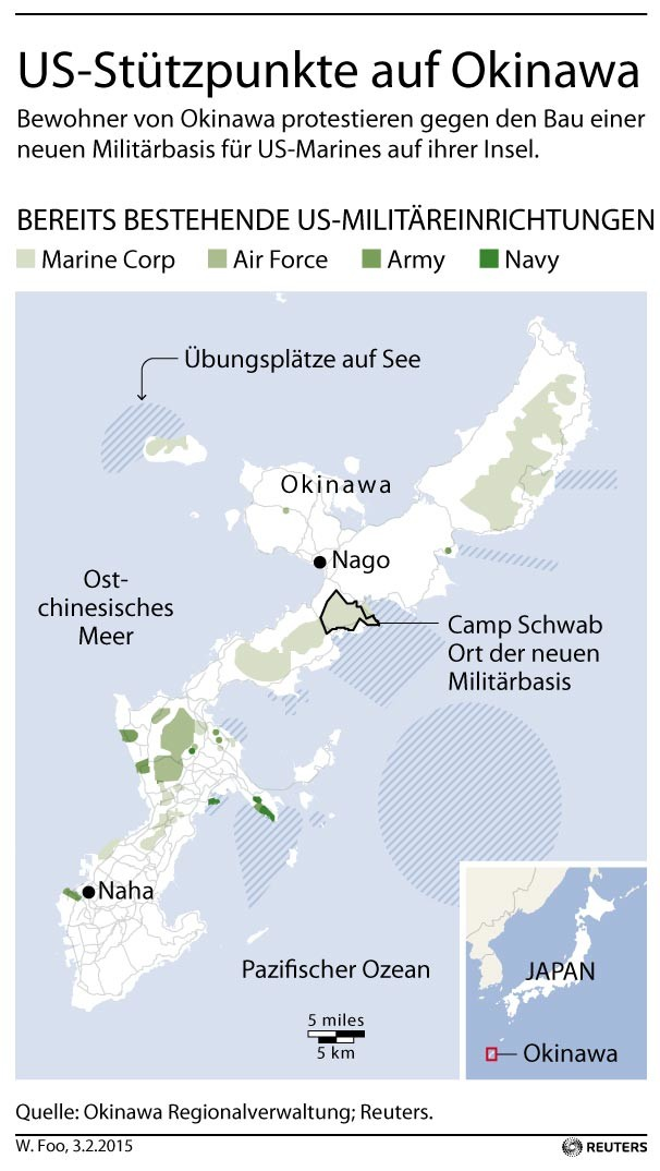 """""""Pivot to Asia"""": Protestwelle gegen neue US-Militärbasen auf Japan"""