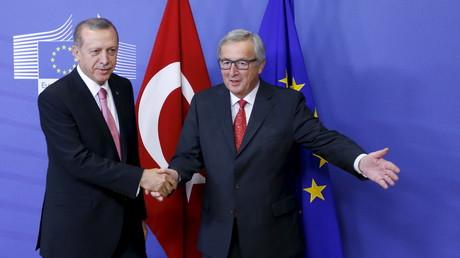 Der türkische Präsident Recep Tayyip Erdogan und der Präsident der EU-Kommission Jean-Claude Juncker