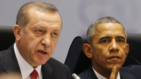 Der türkische Präsident Tayyip Erdogan und US-Präsident Barack Obama auf dem G20-Gipfel in Antalya, Türkei, November 2015.