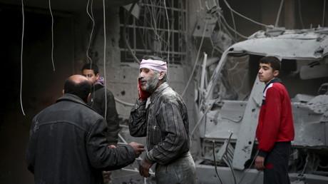 Symbolbild: Zerstörte Krankenstation in Douma, Damaskus,  Januar 2016.