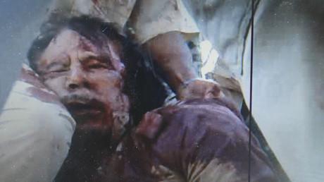 Der ermordete libysche Revolutionsführer Muammar al-Gaddafi: Jahrelang machten der Westen gute Geschäfte mit ihm. Dann wurde sein Land bombardiert.