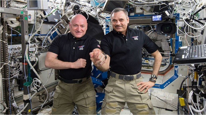 Gemeinsam stark und dem Fortschritt der Menschheit gewidmet - US-Astronaut Kelly und russischer Kosmonaut Kornienko