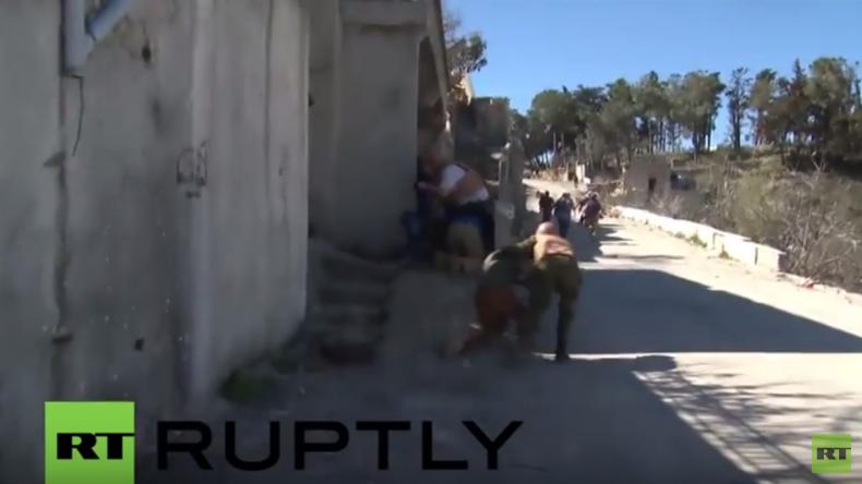 RT-Journalisten geraten in Syrien unter Beschuss