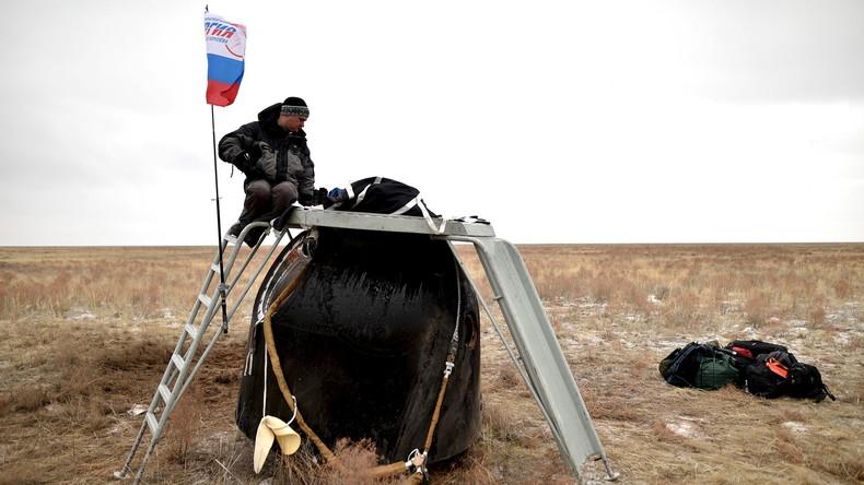 Nach 340 Tagen und 400 Experimenten: Russisch-amerikanische Besatzung kehrt zur Erde zurück
