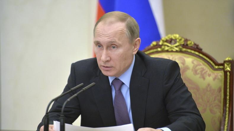 Putin: Wichtigste Erdölproduzenten einigen sich auf Obergrenze für Erdöl-Förderung