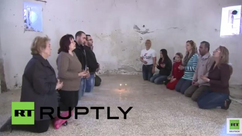 Syrien: Leben nach der Befreiung - Es gibt wieder Gottesdienst und Nahrung durch Hilfslieferungen