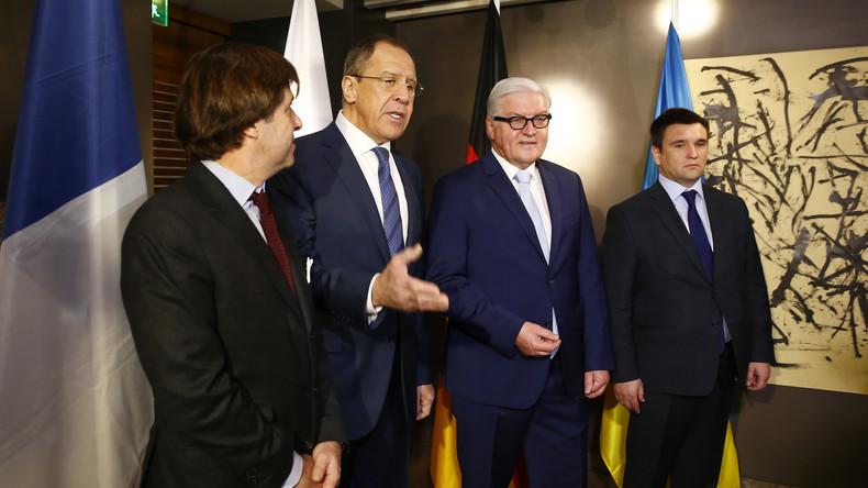 Außenminister des Normandie-Quartetts verhandeln in Paris über Urnengang im Donbass