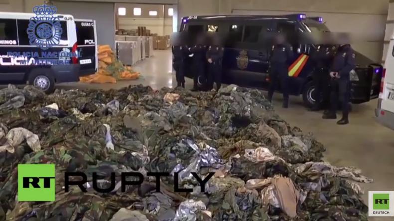Spanien: 20.000 IS-Uniformen von der Polizei in Valencia und Algeciras gefunden