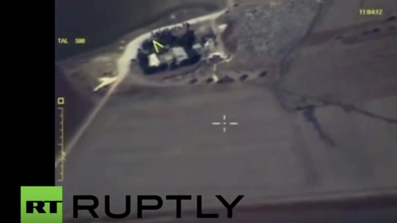 Syrien: Video russischer Luftaufklärung zeigt Beschuss und Grenzübergänge von Militanten aus Türkei