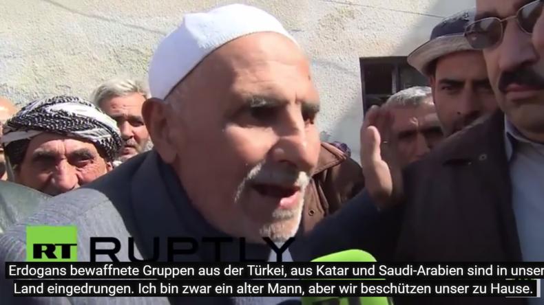 Syrien: Russische Soldaten verteilen humanitäre Hilfe in turkmenischem Dorf in Latakia
