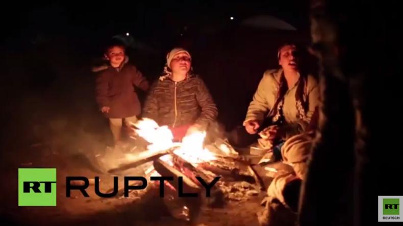 Griechenland: Mittlerweile harren über 13.000 Menschen im Flüchtlingslager in Idomeni aus