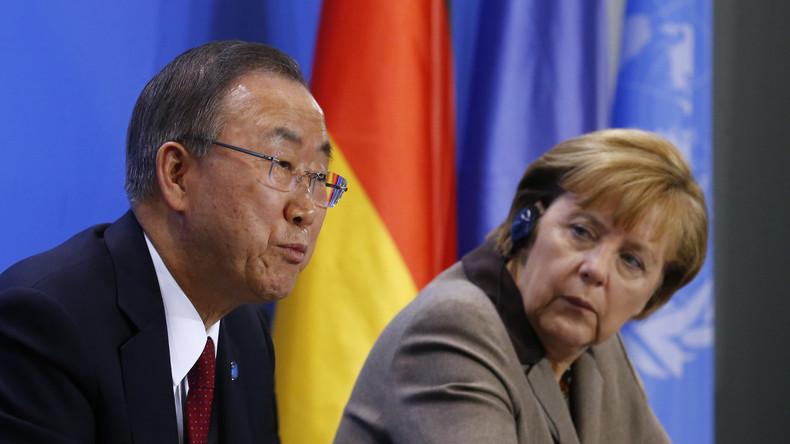 Live: Merkel und Ban ki-moon geben gemeinsame Pressekonferenz in Berlin