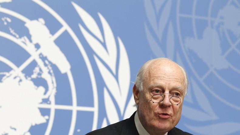 Live: UN-Gesandter für Syrien Mistura gibt Erklärung zu Fortführung der Syrien-Gespräche in Genf ab