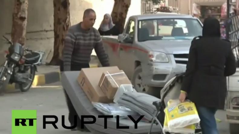 Syrien: Bewohner aus Vororten in Damaskus kehren nach Waffenstillstand in ihre Heimat zurück