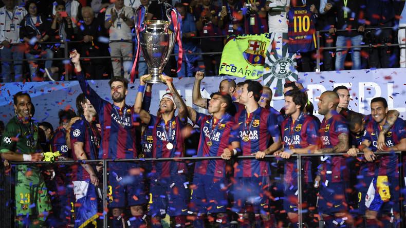 Das Gefühl des Champions League Pokal in die Höhe recken wollen die Spieler des FC Barcelona wie zum Beispiel 2015 wieder erleben.