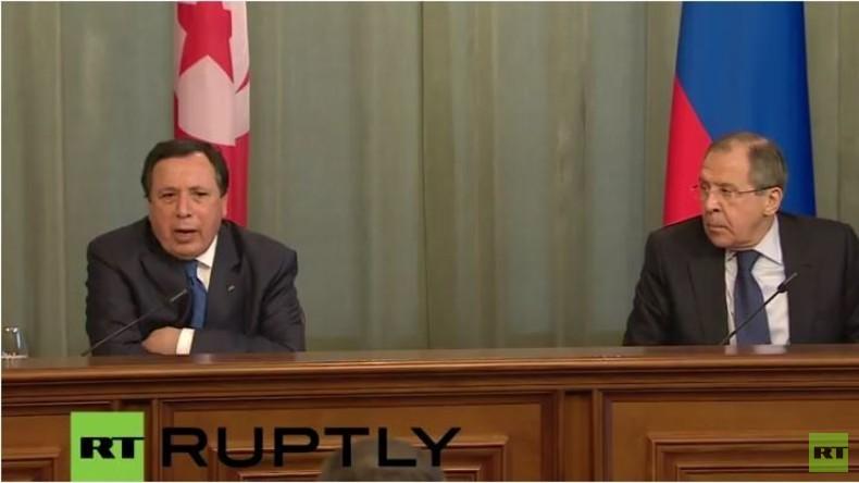 Live: Lawrow gibt gemeinsame Pressekonferenz mit dem tunesischen Außenminister Jhinaoui