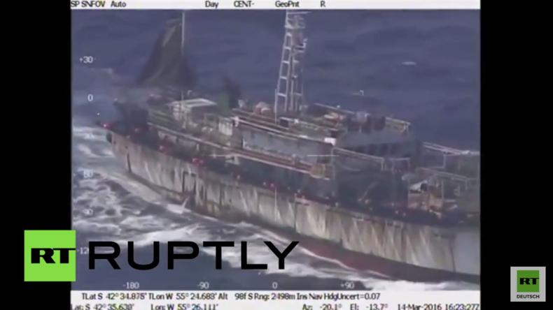 Actionszenen auf hoher See: Argentinien beschießt und versenkt chinesisches Schiff