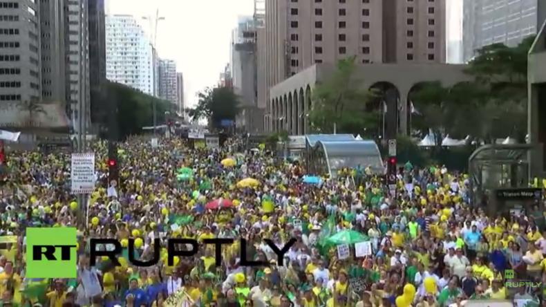 Live: 200.000 zu Protest für Präsidentin Rousseff erwartet – Rechte veranstalten Gegenproteste