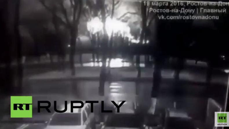 Russland: Überwachungsvideo zeigt dramatischen Flugzeugabsturz Südrussland - 62 Tote