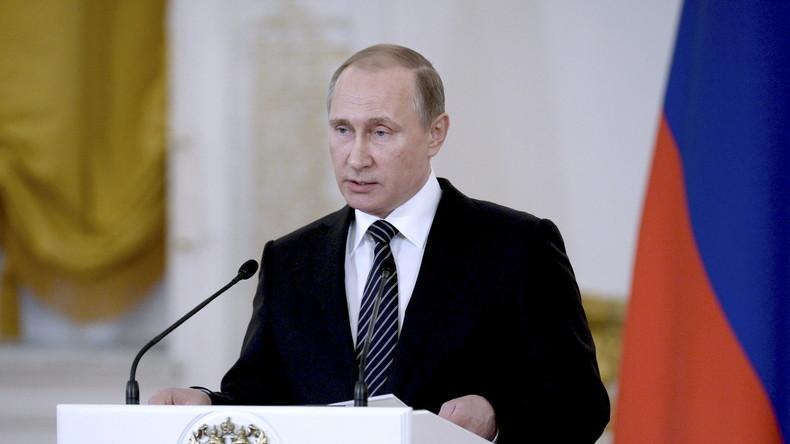 Putin: Einsatz in Syrien hat Russland 480 Mio. US-Dollar gekostet