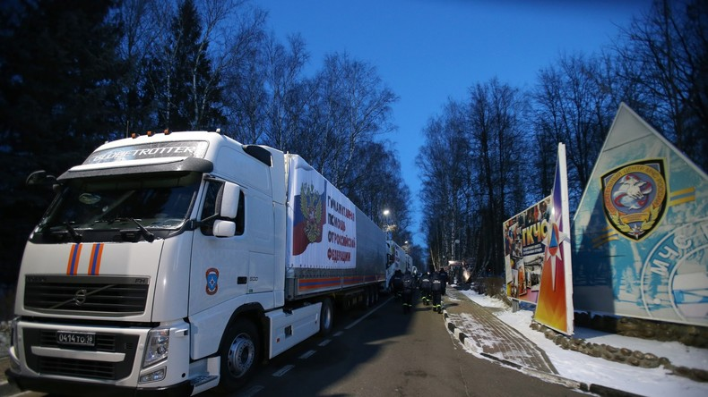 Russland schickt weiteren Hilfskonvoi in den Donbass