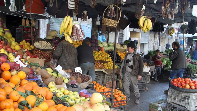 Syrien exportiert Früchte nach Russland