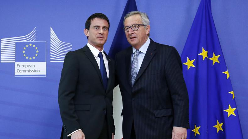 Live: Juncker und Manuel Valls - gemeinsame Presserkonferenz nach Brüsseler Anschlägen