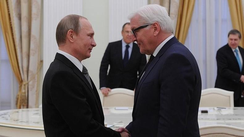 """Steinmeier trifft Putin: """"Ich hoffe, dass wir auch über die bilateralen Beziehungen sprechen"""" -Putin"""