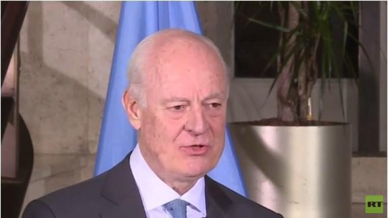 Live: UN-Gesandter Staffan de Mistura zum Abschluss der Syrien-Gespräche