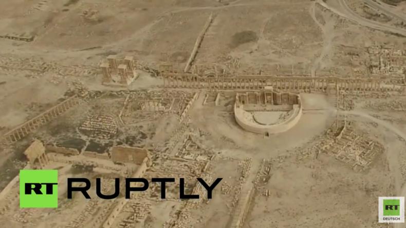 """""""Stadt weitestgehend gut erhalten"""" - Drohne zeigt antike Stadt Palmyra nach der Befreiung vom IS"""
